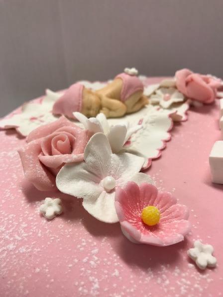 Dåp rosa pynt